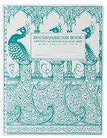 Decomp NB Peacocks Blank Pages
