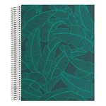 Coiled Notebook 8.5x11 Lined Banana Leaves