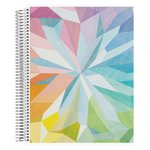 Coiled Notebook 8.5x11 Lined Kaleidoscope