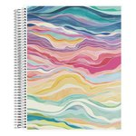 Coiled Notebook 8x11 Graph Layers Colorful