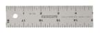 "Fairgate 12"" Cork Back Aluminum Ruler"
