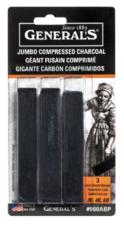 General's Jumbo Compressed Charcoal Sticks