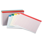 Index Card 3x5 Color Coded