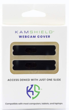 Kamshield Webcam Covers - P2Pk Black