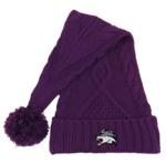 LogoFit Tinsel Knit Holiday Hat Purple