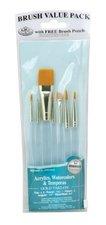 Royal & Langnickel-9100 Series-Zip 'N Close Teal Bue 7-Piece Brush Set