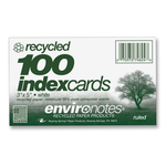 Index Card 3x5 Ruled Recy