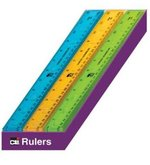"Ruler Plastic Translucent 12"" Asst."