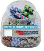 Micro USB Thick Nylon Cable 3ft. Assorted SLZ